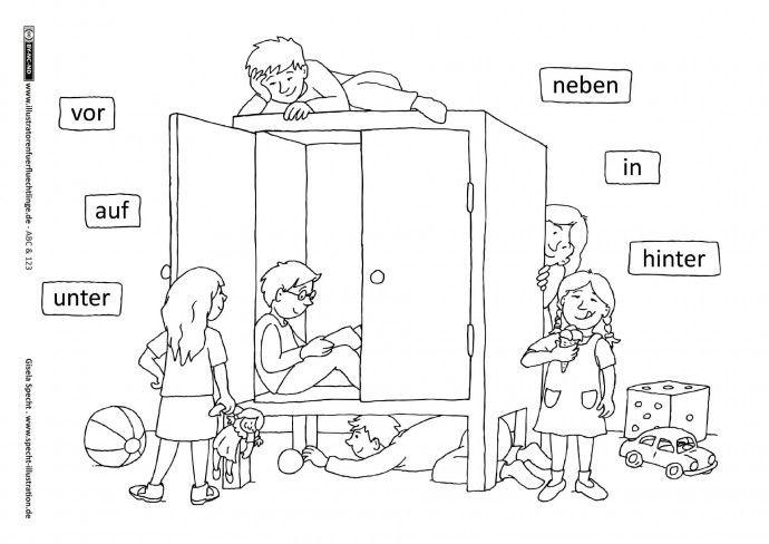 ABC und 123 - Präpositionen - Specht | Englisch | Pinterest ...