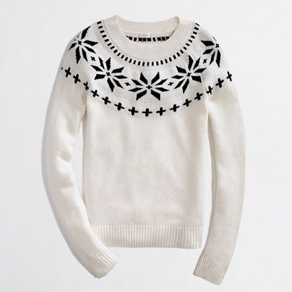 Love this J.Crew Christmas sweater. How cute with a black gingham ...
