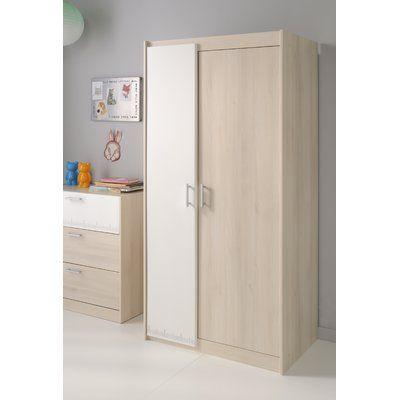 Zoomie Kids Demeter Armoire Tall Cabinet Storage 2 Door