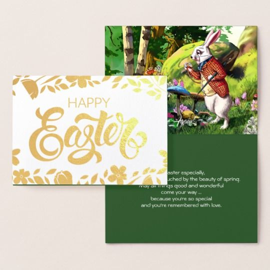 White Rabbit Alice In Wonderland Easter Cards Zazzle Com
