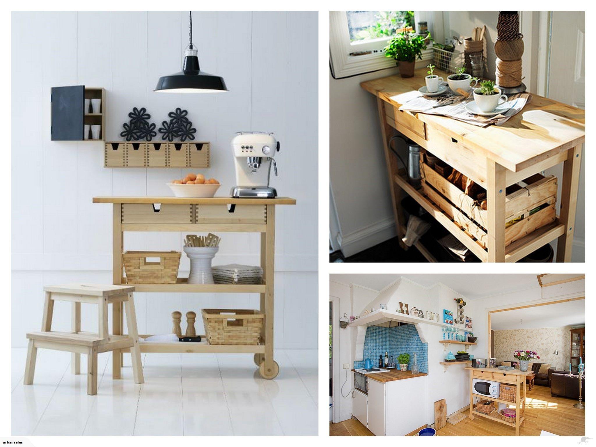 Trolley Keuken Ikea : Ikea fÖrhÖja kitchen trolley island birch trade me apartment