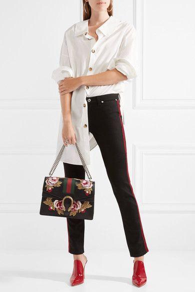 a297cb7c6f3b GUCCI Dionysus medium appliquéd women's textured-leather luxury shoulder bag