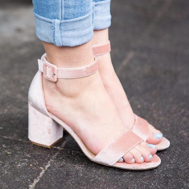 9444cc94d1a CL by Laundry Jody Velvet Sandal Women s Shoes
