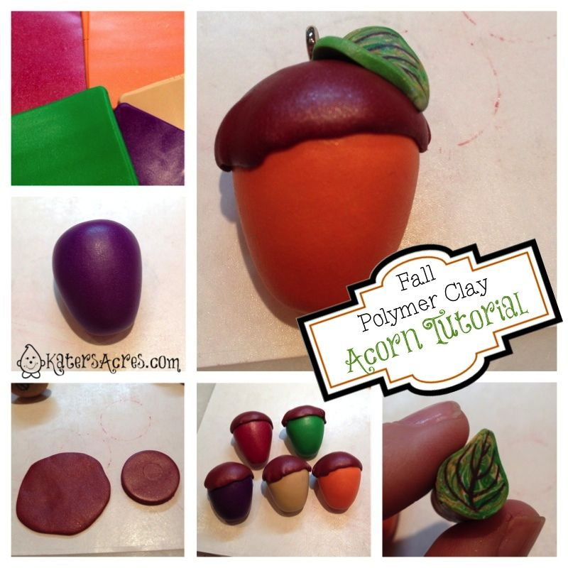 Polymer Clay Acorn Tutorial With Images Polymer Clay Polymer