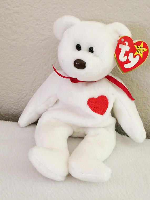 9b048c00512 Measures Errors on tag 1993. Retired Ty Beanie Baby Valentino The Bear Style