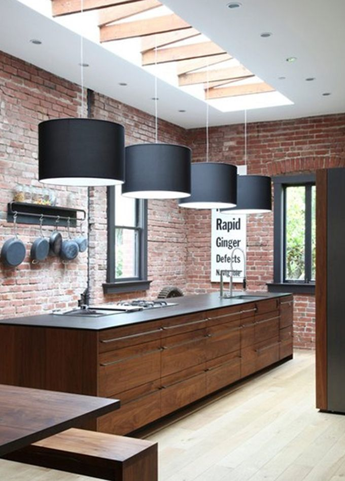 Kitchen With Roof Window Lighting Kitchen With