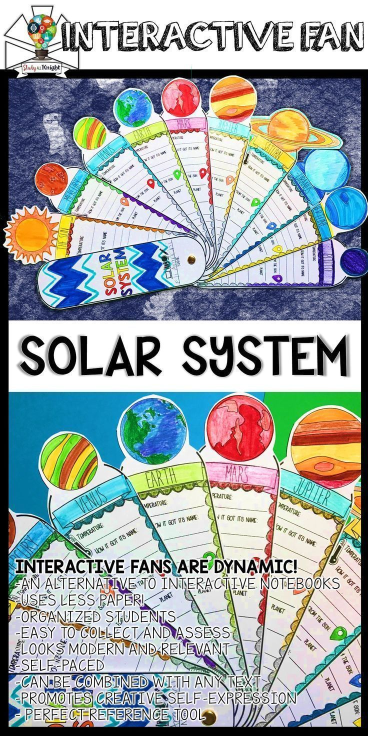 solar system activity planets research facts fill in interactive fan science ense ando. Black Bedroom Furniture Sets. Home Design Ideas