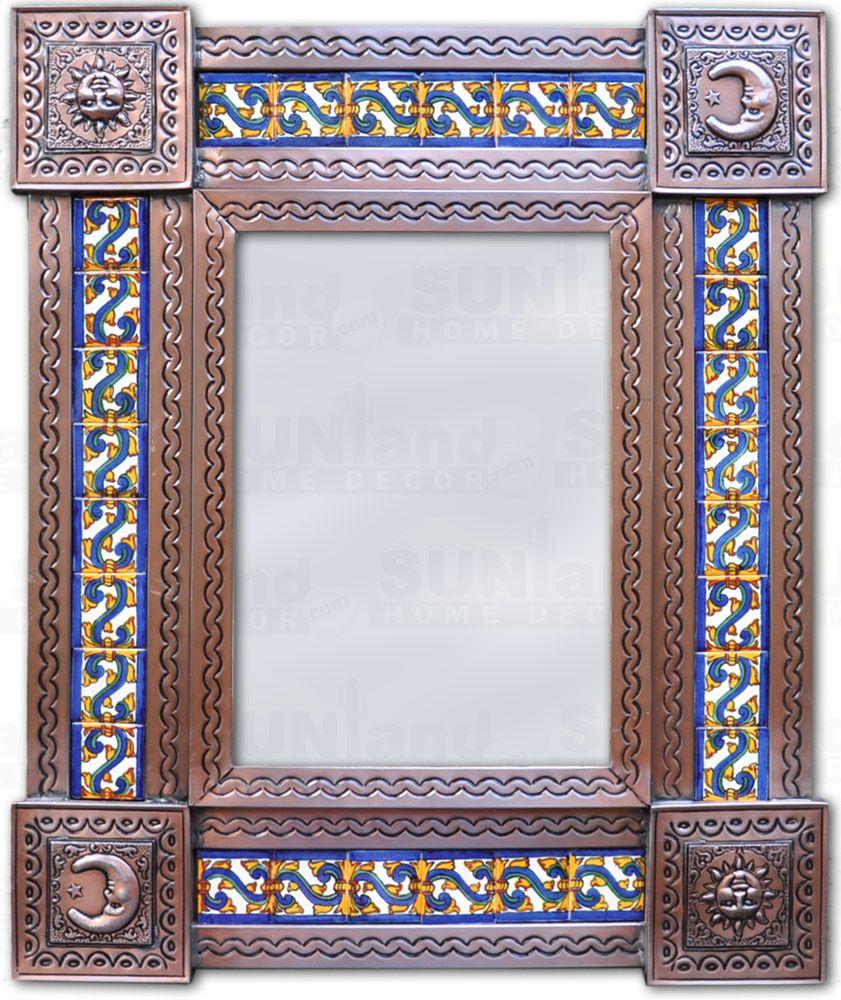 mexican tile frame mirror mirror mexican home design home rh pinterest com