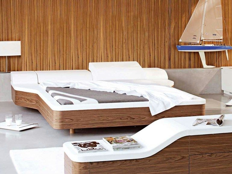 Doppelbett aus Leder MARINA | Bett - ROCHE BOBOIS | Bett | Pinterest
