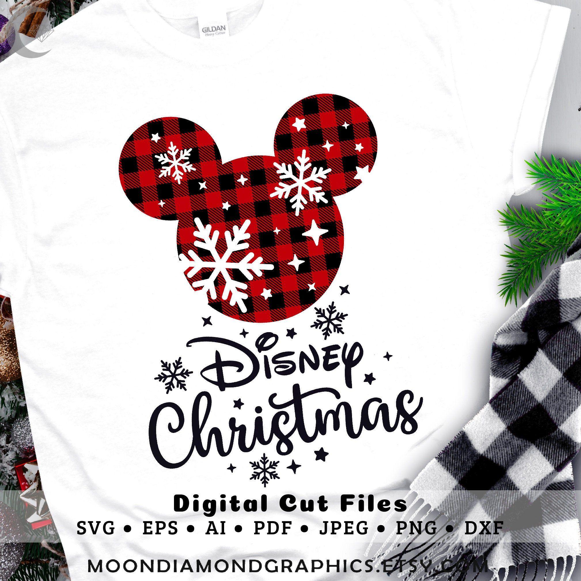 Disney Christmas Svg, Mickey Mouse Santa SVG, Christmas