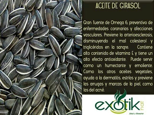 Aceite de Girasol.  Sunflower Oil.