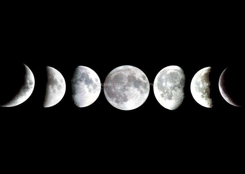 много фото луны в разных фазах чтобы