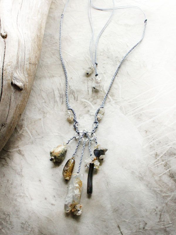 Image of 'Enchanted Melody' ~ crystal amulet with six crystal energies, incl. raw Sapphire