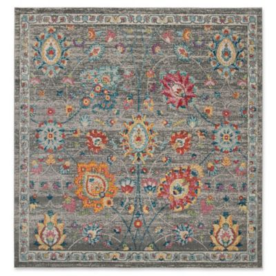 Safavieh Merlot Florence 6 7 Square Area Rug In Grey With Images