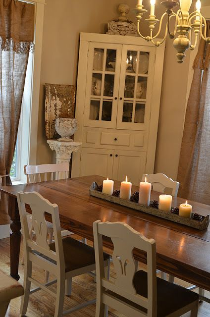 Faded Charm ~Simple Winter Table Decor~ Decorating Pinterest