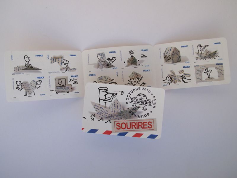 French postage stamps by Serge Bloch