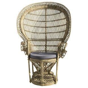 Sedia bistrot in rattan e legno di betulla bianca di maison di monde in eccellenti condizioni, accompagnava una scrivania in uno studio utilizzato pochissime volte. Poltrone Sessel Rattansessel Rattan Sessel