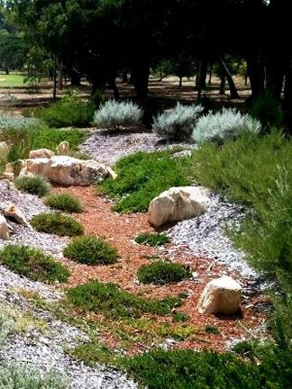 Rock garden with hardy groundcovers | Drought tolerant gardens ... on japanese zen gardens, dry well construction, southwest gardens, zen buddhism gardens, small patio gardens, sand gardens, adachi gardens, dry bar furniture, dry garden design,