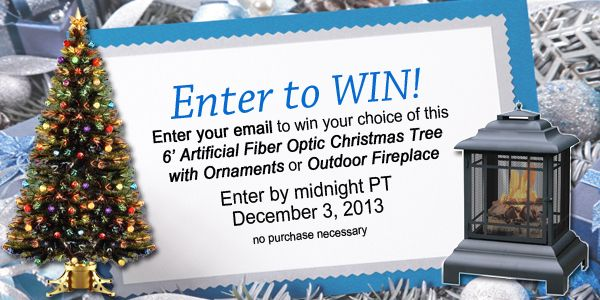 Enter To Win A 6 Ft Artificial Christmas Tree Or An Outdoor Fireplace From  PatioShoppers.