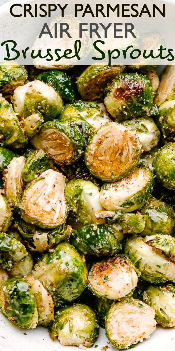 Crispy Parmesan Air Fryer Brussel Sprouts