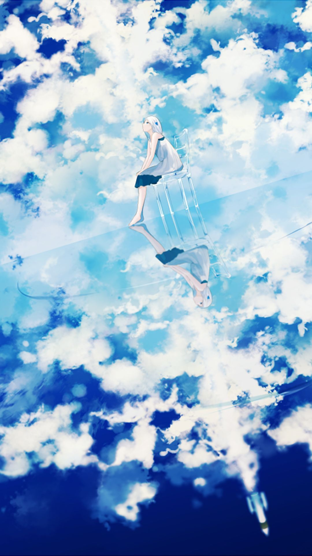 Shiny Blue Sky Blue Sky Wallpaper Sky Wallpaper Anime Blue