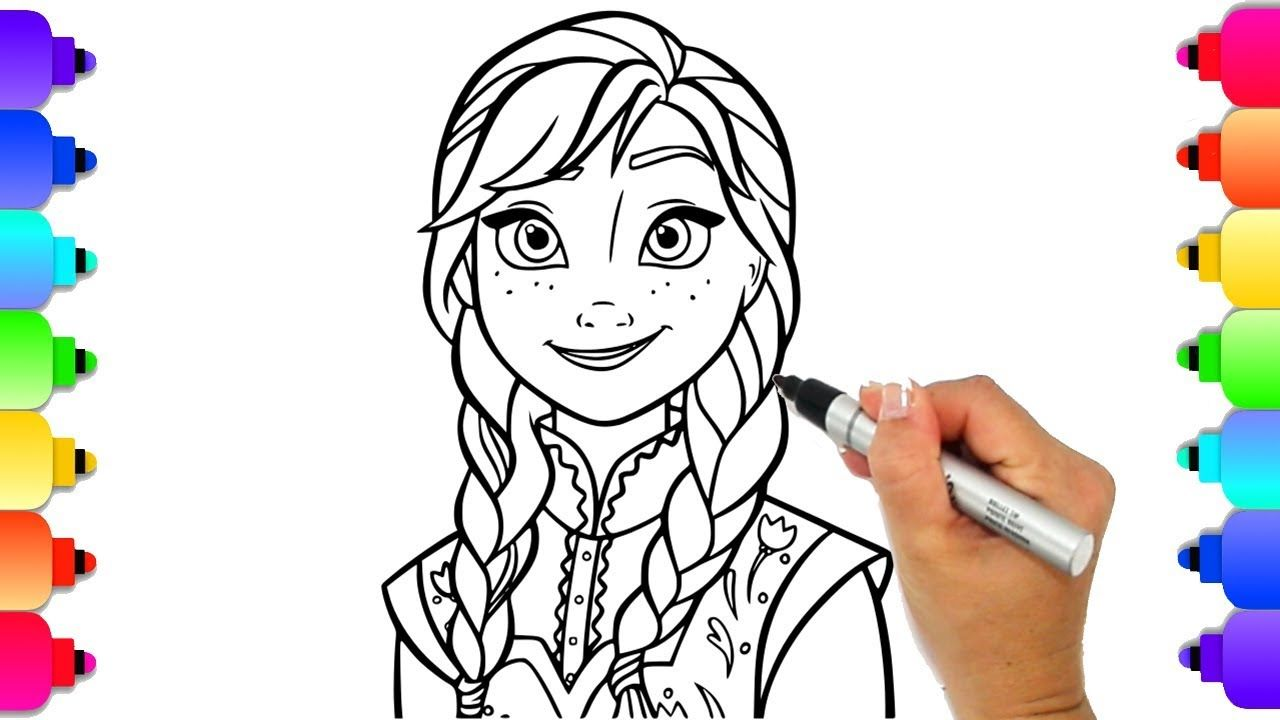 Learn to Draw Princess Anna from Disney's Frozen 2 ...