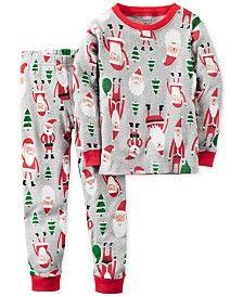 70820c050a75 Carter s 2-Pc. Santa-Print Pajama Set