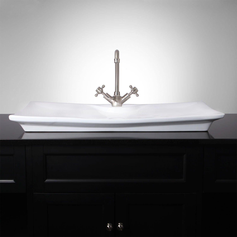 holme rectangular vessel sink