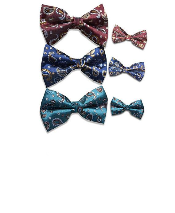 Father and Son Matching Pre-Tied Bow Tie Set for $29.99     by ilooksharp