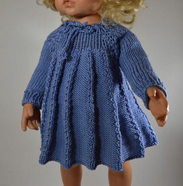 """Puppenkleid  """" Hängerchen """"  für 40 cm Puppe von MonikasPuppenmode auf DaWanda.com"""