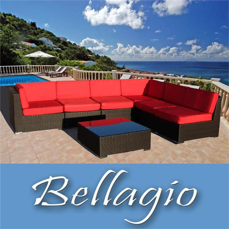 Outdoor Wicker Sectional Sofa Set