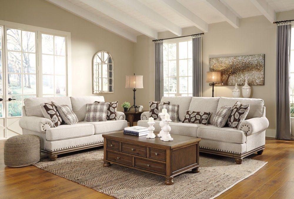 Harleson wheat sofa loveseat livingroom layout