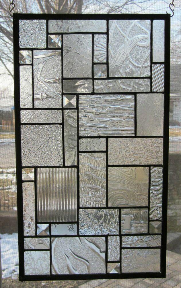 スターダストステンドグラスウィンドウパネルEBSQアーティストトランサムサイドライトバランス  | eBay