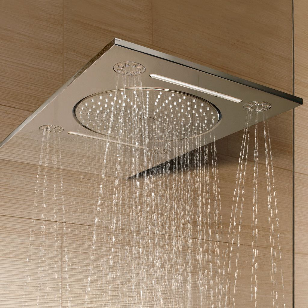 grohe rainshower f series 15 multi spray overhead shower. Black Bedroom Furniture Sets. Home Design Ideas