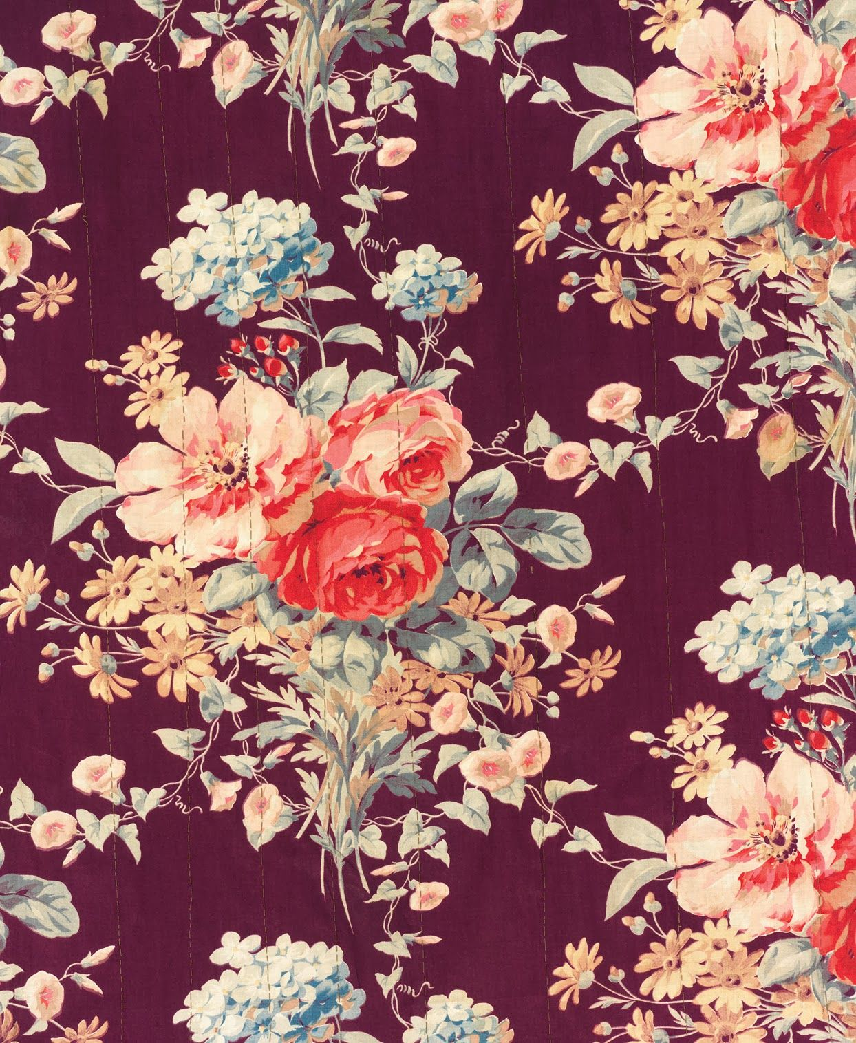 Dark Background With Vibrant Floral Pattern With Images