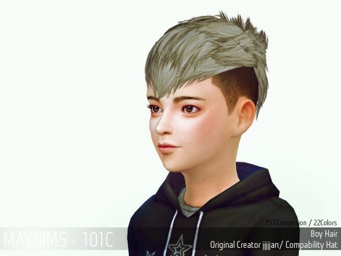 Sims 4 Updates: May Sims - Hairstyles : Hair 101C (JJJJJan), Custom Content Download!