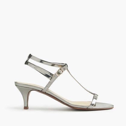 Fourever Funky Clear Rhinestone Heel White Sandal Womens Low Heels