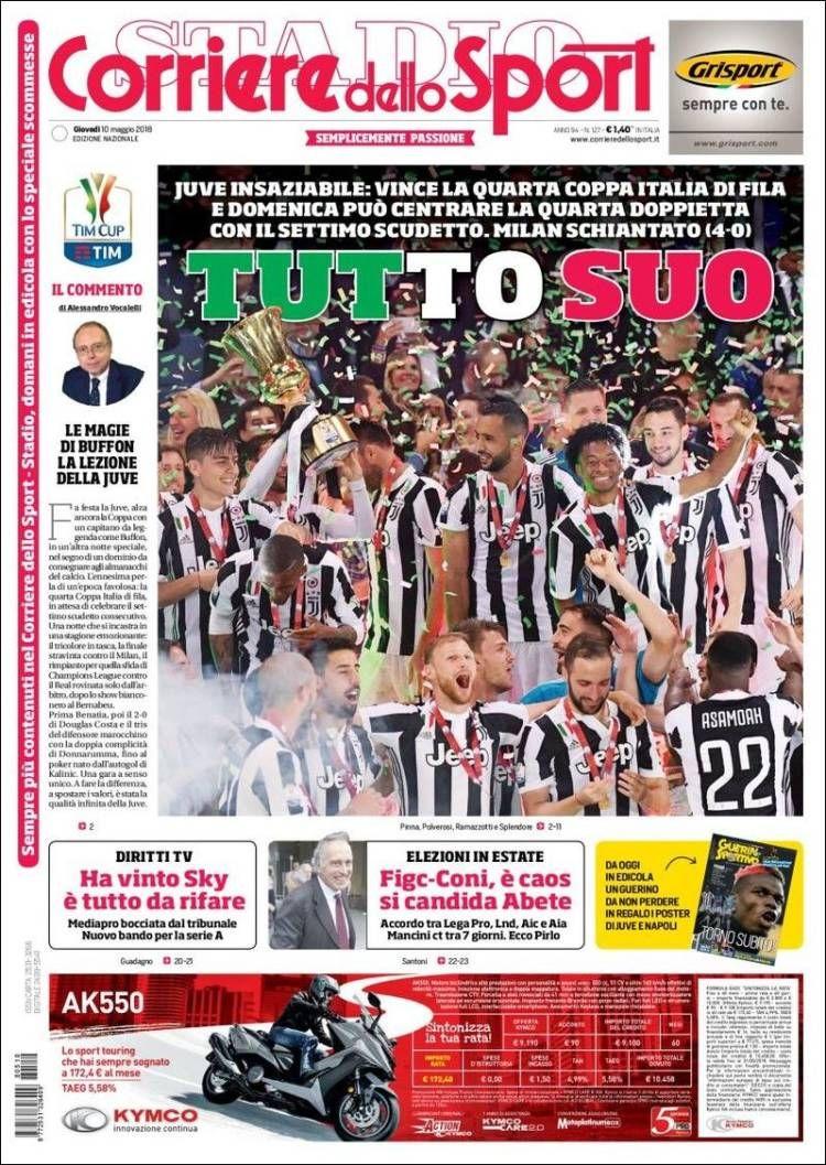 Portada de Corriere dello Sport (Italia) Italia, Sport e
