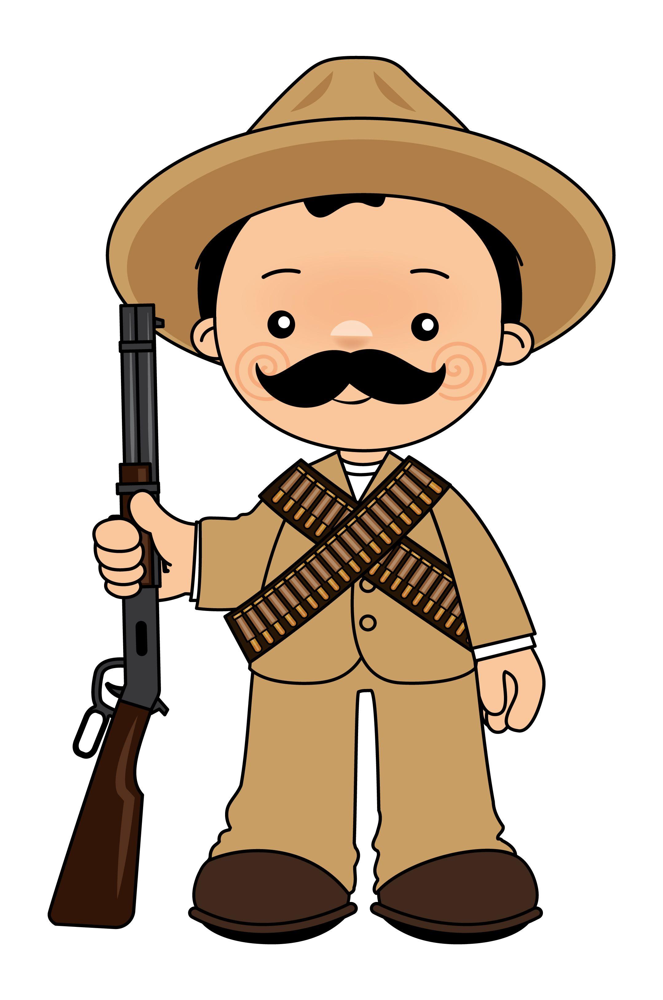 Pancho Villa Revolucion Mexicana Para Ninos Revolucion Mexicana Dibujos Revolucion Mexicana
