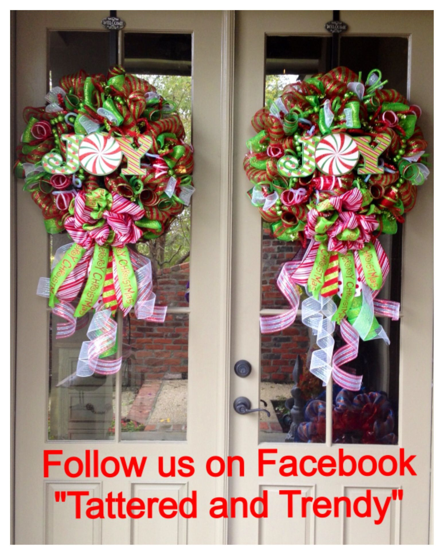 Of Wreaths Christmas Deco Mesh Wreath Wreaths For Double Doors Pair Of