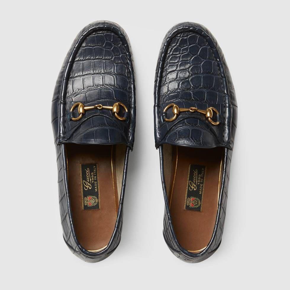 f360cb80ecc Shop the 1953 Horsebit crocodile loafer by Gucci. Our 1953 Horsebit loafer  in crocodile.