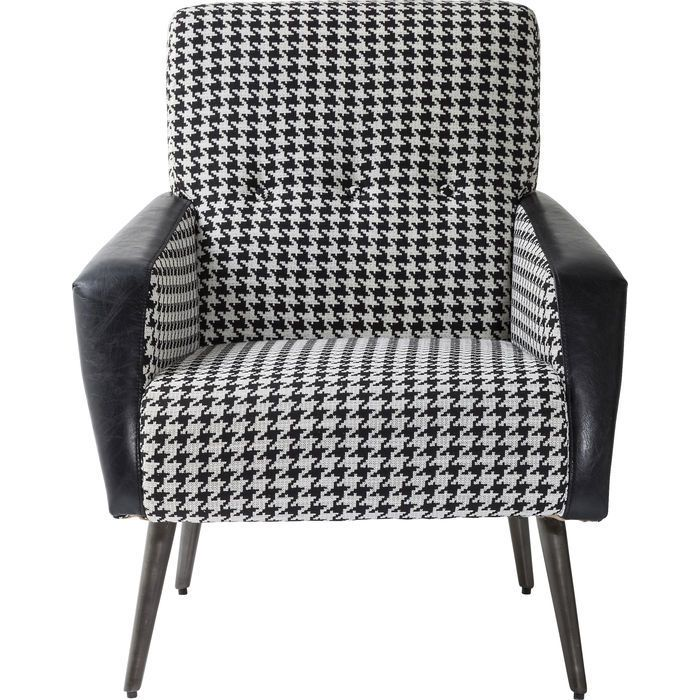 Arm Chair 50ies Black and White KARE Design Armchair