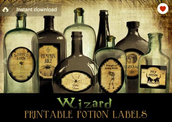 Potion Bottle Labels Potion Labels Harry Potter Potion Labels Potion Bottle