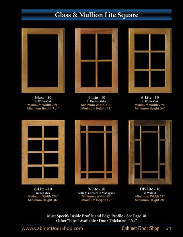 31 Glass Mullion Lite Square Condo Pinterest Cabinet Doors