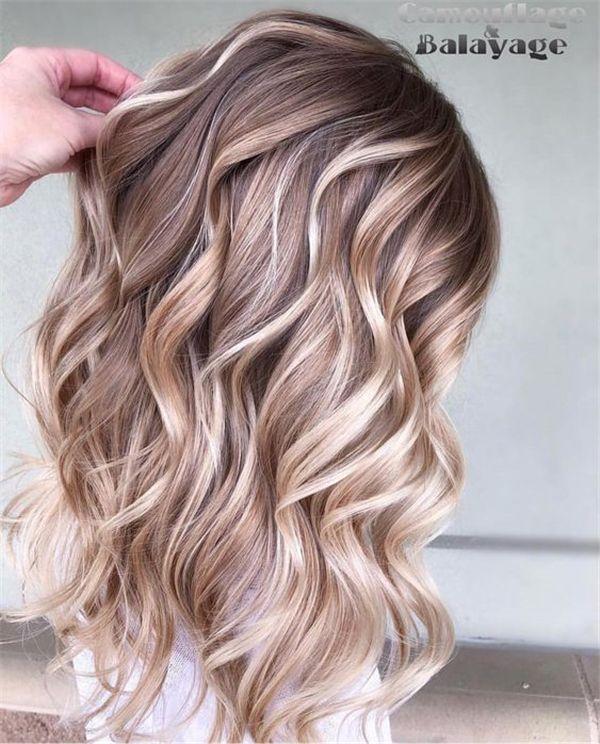 Trendy Hair Color 2019: 20+ Trendy Hair Highlights : Balayage Application