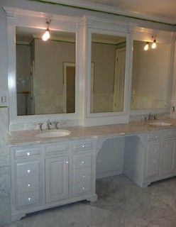 Double Vanity Bathroom Houzz double vanities with knee hole space | found on houzz | coley