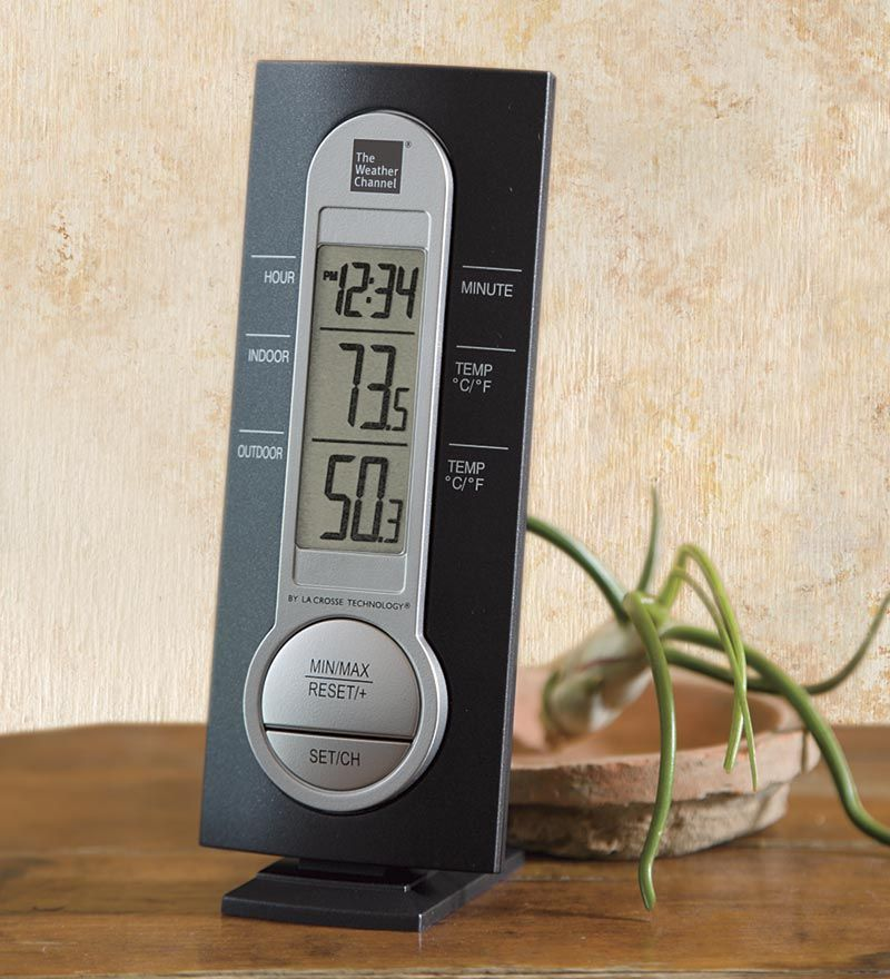 The Weather Channel Wireless Thermometer With Sensor By La Crosse Technology Wind And Weather Wireless Thermometer The Weather Channel Outdoor Thermometer