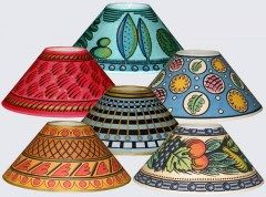 Cressida Bell S Hand Painted Lamp Shades Painting Lamp Shades Decorate Lampshade Lamp Shades