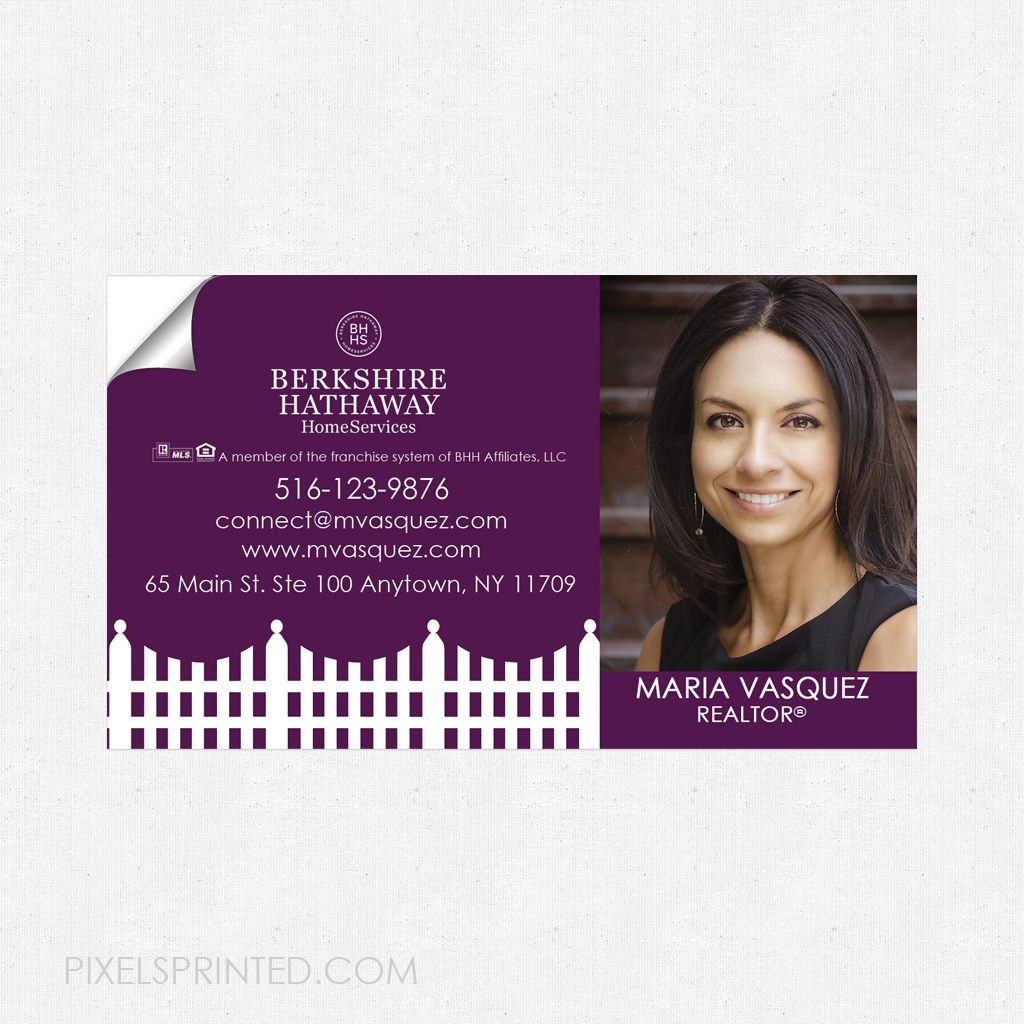 Berkshire Hathaway Home Services Business Card Sticker Bhhs