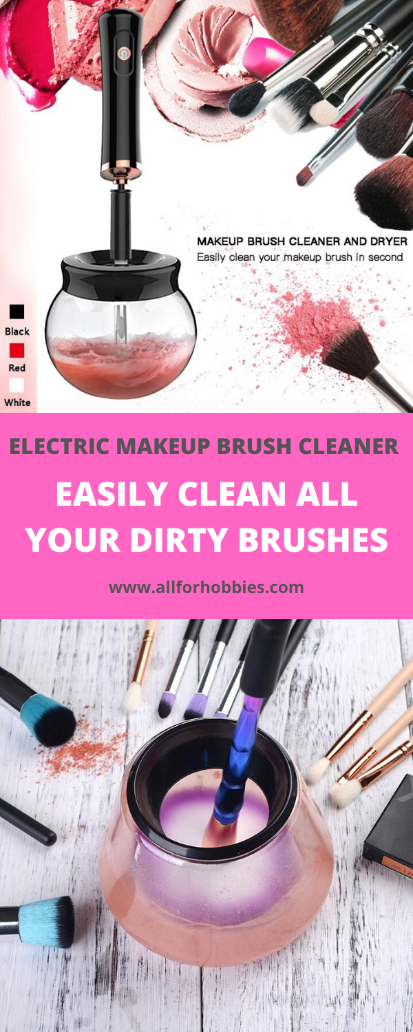 Electric Makeup Brush Cleaner Makeup brush cleaner, How
